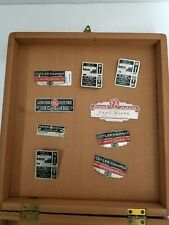 Vintage 9 pieces electrical equipment tags 1920s - 40s. Rare Frank Adam's, GE ,