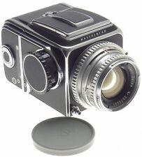 MEDIUM FORMAT FILM CAMERA CHROME ZEISS PLANAR 2.8 f=80mm HASSELBLAD 500 C USED