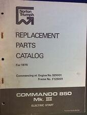 Norton Commando 850 Part List 1975