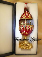 "Russian Musical Carousel Egg Nutcracker ""Waltz of the Flowers & Faberge Necklace"