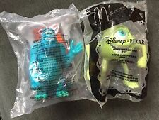 2001 McDonalds Disney MONSTERS INC -  Sully & Mike Toys #1 & #5 *RARE*NEW *