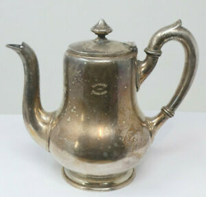 Vintage TAJ MAHAL PALACE HOTEL BOMBAY Silver Plated Coffee Pot by Berndorf
