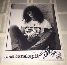 Slash SIGNED 8x10 Photo Guns N Roses Slash's Snakepit Axl Rose PROOF