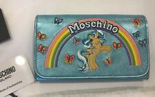 $775 SS18 Moschino Couture Jeremy Scott My Little Pony LeatherWalletShoulder Bag