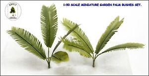 MINIATURE GARDEN DIORAMAS PALM BUSHES SET MODEL 1/50 SCALE.  EMG-051