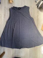 Womens Dark Grey Cami/vest Top Asos 6 Jersey