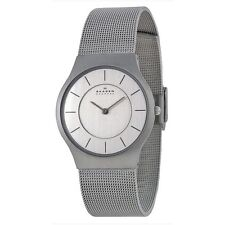 Skagen Stainless Steel Band Men's Polished Wristwatches