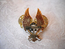 USA Motorcycle Rider Eagle Lapel Pin Hat Tie Tack Jacket Biker Vest
