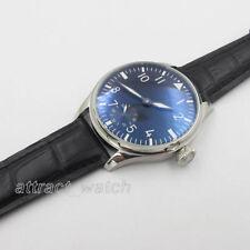 44mm Parnis Wristwatch 6498 Hand Winding Movement Black Dial Men's Watch