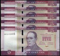 LIBERIA 20 DOLLARS 2011 P 28 AUNC ABOUT UNC