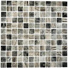 Mosaik Glas Holzstruktur hellgrau Fliesenspiegel Küche Art: 63-312   10 Matten