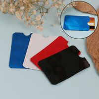 10X Colorful Rfid Credit Id Card Holder Blocking Protector Case Shield Cover BSC