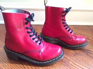 Doc Dr Martens Clemency Hot Pink Rugged Boot Women's 7 US / 38 EUR / 5 UK Damage