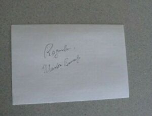 MARLON BRANDO SIGNED 4x6 INDEX CARD AUTOGRAPH
