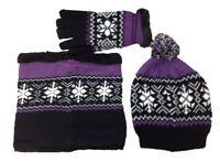 Ladies Rock Jock Knitted Fair Isle Fleece Lined Hat, Glove or Neck Warmer Snood