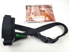 New listing Lepark Dog Muzzle Anti-Biting Chewing Adjustable Neck Breathable Black M