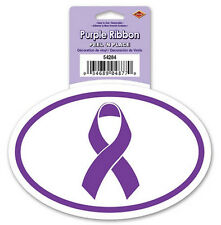 """CANCER AWARENESS PURPLE SUPPORT RIBBON wall sticker 1 decal  6"""" peel and stick"""