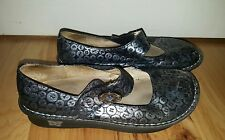 ALEGRIA Women's SHOES Size 39 PALOMA BLUE BUTTON UP PAL-213 silver gray