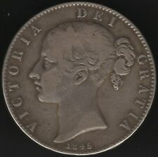 More details for 1845 victoria silver crown | british coins | pennies2pounds