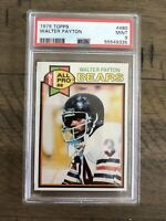 """1979 Topps Football Walter Payton #480 PSA 9 MINT Youngest 5'10"""" MVP Player"""