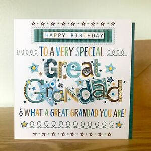 Great Grandad birthday card. A special card for a Great Grandad.