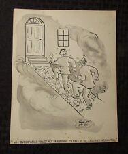 Vintage Charles Chas Sage 8x10 One Panel Gag Original Art Wash CROW-FOOT