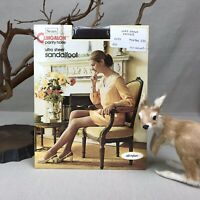 Sears Cling-alon Vintage Nylon UltraSheer Warm Brown Medium Sandalfoot Clingalon
