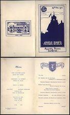 1933 & 1935 Original Dumfries Academy Annual  Christmas Dinner Menu's