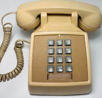 Vintage Genuine Bell System Desk Telephone, Model 2500MM, 1976, Beige