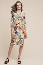 New Anthropologie Women's Forest Applique Sheath Dress Size 12