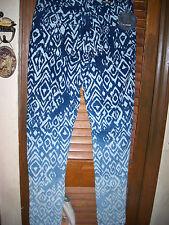Free Culture~NWT's sz 0 skinny leg ~blue~ Geometric print   ombre jeans~ stretch