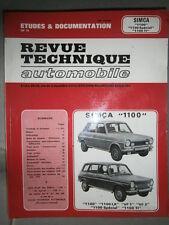 Simca Talbot 1100 + Spécial Ti VF1 2 : revue technique RTA 3314