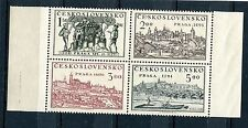 CZECHOSLOVAKIA 1950 SCOTT 429a PRAGUE PHILATELIC EXHIBITION BLOCK 4 PERFECT MNH