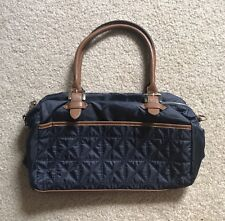 NEW Women's M & S Collection Mark and Spencer's Hand Bag Tote Navy Brown Quilted