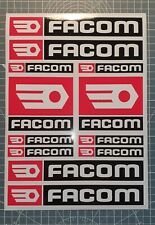 planche d'autocollant FACOM 12 stickers bricolage tuning decal sponsor