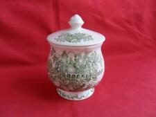 Mason's Fruit Basket (Green) Lidded Jam Pot or Preserve Pot