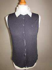 Collared Spotted Sleeveless Other Tops for Women