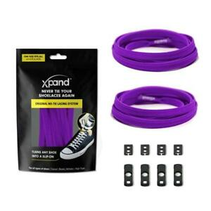 XPAND | PURPLE FLAT LACES - MAKE ANY SHOES SLIP-ON!