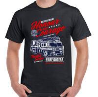 Honour & Courage Firefighter Mens Fireman's T-Shirt Fire Brigade Service Engine
