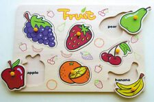 Fruit Puzzle Wooden toys Fruits Puzzles Montessori toy