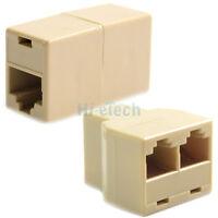 RJ45 CAT5 6 LAN Ethernet Splitter Adapter + Extender Coupler Jointer Plug for PC