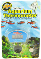 ZOO MED DIGITAL AQUARIUM THERMOMETER WITH BATTERY WATERPROOF. FREE SHIP IN USA