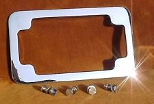 Deluxe Motorcycle License Plate Frame. Hidden Bolts, Heavy Show Chrome. Primo!