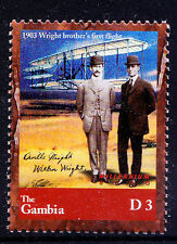 Gambia MNH, Millennium, Aviation, Wright Brothers, First Flight  -NL9