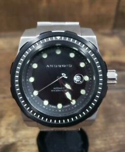 Men's Android AD645 Automatic Black Dial Date Stainless Steel Watch Pre-owned
