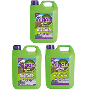3 X Algon Organic Path Patio and Decking Cleaner Concentrate 2.5L
