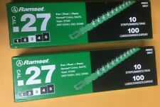 2 boxes Ramset 3Rs27 .27 cal Green Power Strip Loads (total 200 loads)