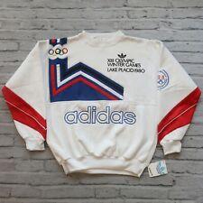 Deadstock Adidas Olympic Winter Games Sweatshirt M Lake Placid 80s Vtg Trefoil