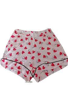 Womens Ladies Soft Pink Shorts Sleep Shorts Nightwear size 8 10 12 14