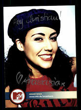Anastasia MTV Autogrammkarte Original Signiert # BC 93521
